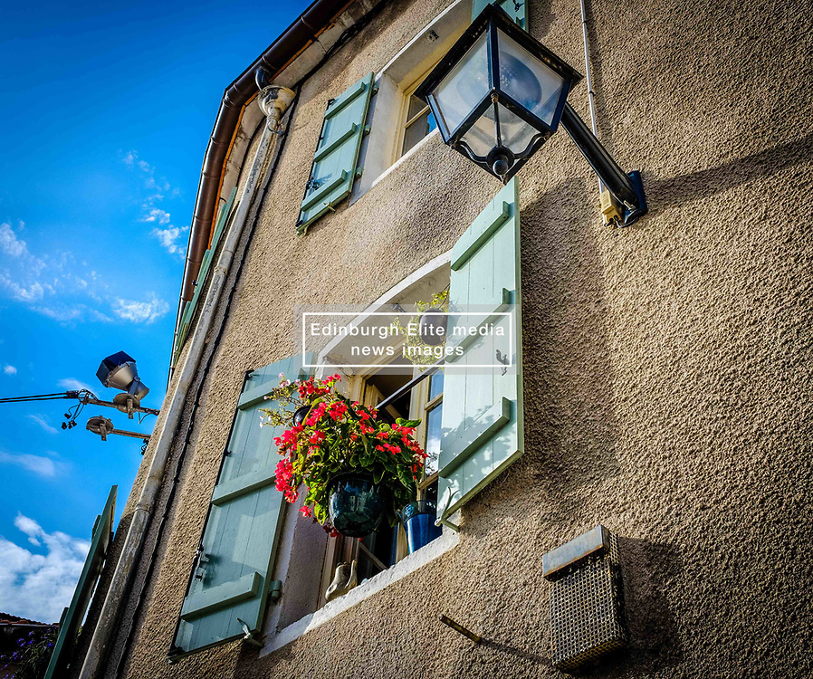 F?owers at a window of a house in Beaune, Burgundy, France<br /> <br /> (c) Andrew Wilson | Edinburgh Elite media