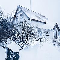 Ísafjörður town snow scenes