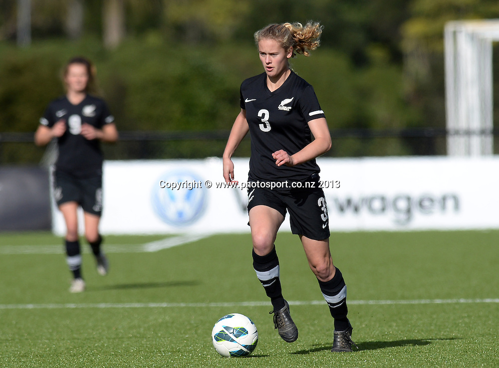 Megan Lee. New Zealand Junior Football Ferns v Australia Young Matildas. Women's U20 International. Match 3. Seddon Fields, Auckland. Monday 29 July 2013. Photo: Andrew Cornaga/www. Photosport.co.nz