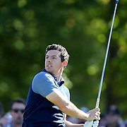 Ryder Cup 2016. Day One. Rory McIlroy of Europe in action during the Ryder Cup competition at the Hazeltine National Golf Club on September 30, 2016 in Chaska, Minnesota.  (Photo by Tim Clayton/Corbis via Getty Images)