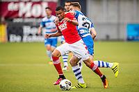 ZWOLLE - 18-09-2016, PEC Zwolle - AZ, MAC3park Stadion, 0-2, AZ speler Dabney dos Santos Souza, PEC Zwolle speler Bart Schenkeveld.