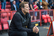 Forest Green Rovers manager, Mark Cooper during the EFL Cup match between Charlton Athletic and Forest Green Rovers at The Valley, London, England on 13 August 2019.