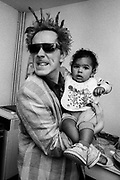 John Lydon and Jet Letts -1986 Big Audio Dynamite Medicine Show Video Shoot.