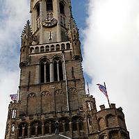 Europe, Belgium, Brugges. 13th century belfry of Brugges.