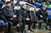 Bolton Wanderers Manager Neil Lennon during the Sky Bet Championship match between Brighton and Hove Albion and Bolton Wanderers at the American Express Community Stadium, Brighton and Hove, England on 13 February 2016. Photo by Bennett Dean.