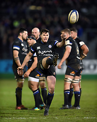 Freddie Burns of Bath Rugby kicks for touch - Mandatory byline: Patrick Khachfe/JMP - 07966 386802 - 10/01/2020 - RUGBY UNION - The Recreation Ground - Bath, England - Bath Rugby v Harlequins - Heineken Champions Cup