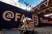 The FA crest  during the FA Community Shield match between Arsenal and Chelsea at Wembley Stadium, London, England on 6 August 2017. Photo by Sebastian Frej.