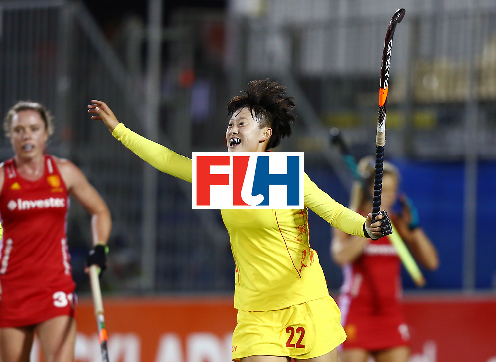 New Zealand, Auckland - 21/11/17  <br /> Sentinel Homes Women&rsquo;s Hockey World League Final<br /> Harbour Hockey Stadium<br /> Copyrigth: Worldsportpics, Rodrigo Jaramillo<br /> Match ID: 10302 - ENG vs CHN<br /> Photo: