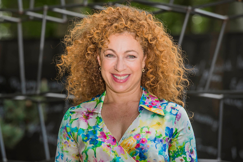 Alex Kingston on the Breaking Ground Garden - The Chelsea Flower Show organised by the Royal Horticultural Society with M&G as its main sponsor for the final year. London 22 May, 2017