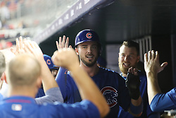 October 6, 2017 - Washington, DC, USA - The Chicago Cubs' Kris Bryant celebrates after scoring in the sixth inning against the Washington Nationals during Game 1 of a National League Division Series on Friday, Oct. 6, 2017, at Nationals Park in Washington D.C. (Credit Image: © Brian Cassella/TNS via ZUMA Wire)