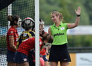 Umpire controls a penalty corner during their opening game of the EHCC 2017 at Den Bosch HC, The Netherlands, 2nd June 2017