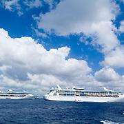Cruise ships in Cozumel Island.Quintana Roo, Mexico.