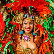 NLD/Amsterdam/20171025 - Start verkoop boek 'Aruba' van Marco Borsato en Raymond Rutting, Arubaanse danseres in de kleurrijke klederdracht