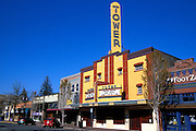 The Tower Theater and downtown shops, Bend, Oregon
