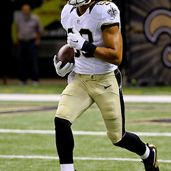 Aug 30, 2015; New Orleans, LA, USA; New Orleans Saints wide receiver Willie Snead (83) before a preseason game against the Houston Texans at the Mercedes-Benz Superdome. Mandatory Credit: Derick E. Hingle-USA TODAY Sports