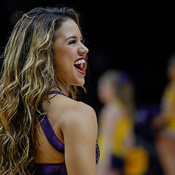 Feb 20, 2018; Baton Rouge, LA, USA; LSU Tigers girls dance team during the second half against the Vanderbilt Commodores at the Pete Maravich Assembly Center. LSU defeated Vanderbilt 88-78. Mandatory Credit: Derick E. Hingle-USA TODAY Sports