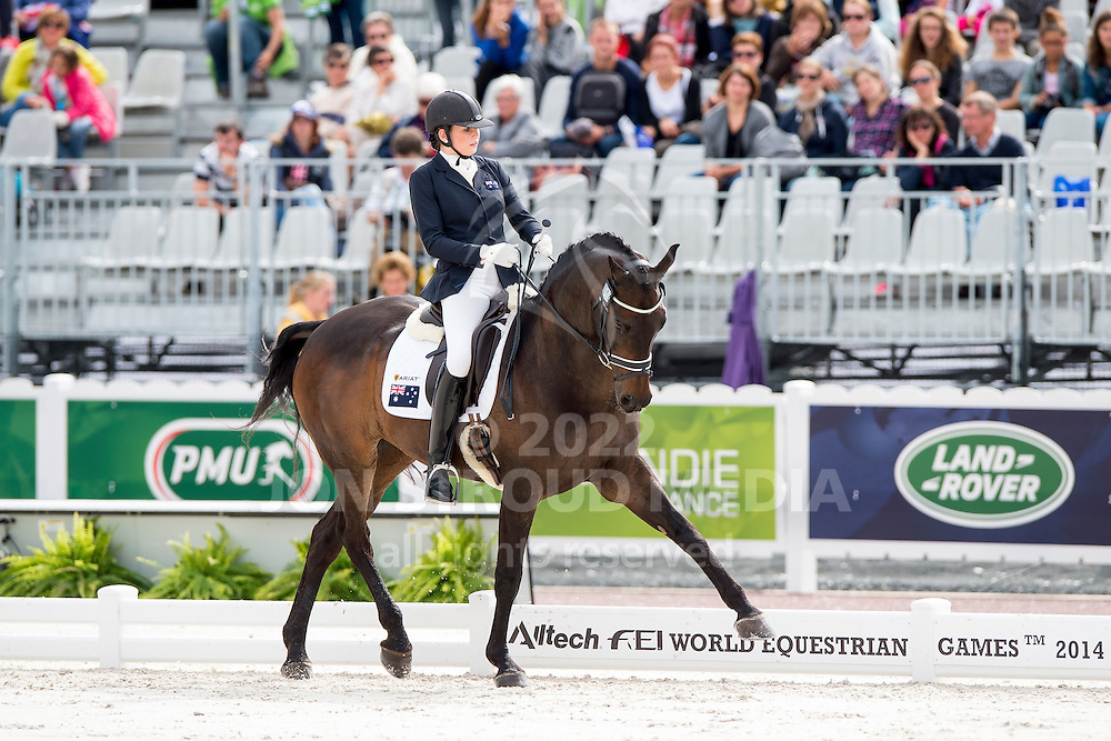 Chelsea Higgins, (AUS), Holstein Park Comedian - Individual Test Grade III Para Dressage - Alltech FEI World Equestrian Games&trade; 2014 - Normandy, France.<br /> &copy; Hippo Foto Team - Jon Stroud <br /> 25/06/14