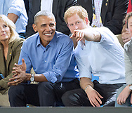 28.09.2017; Toronto, CANADA: PRESIDENT OBAMA AND PRINCE HARRY <br /> watch the Invictus basketball match between USA and France at the Pan Am Sports Centre, Toronto<br /> Mandatory Photo Credit: &copy;Francis Dias/NEWSPIX INTERNATIONAL<br /> <br /> IMMEDIATE CONFIRMATION OF USAGE REQUIRED:<br /> Newspix International, 31 Chinnery Hill, Bishop's Stortford, ENGLAND CM23 3PS<br /> Tel:+441279 324672  ; Fax: +441279656877<br /> Mobile:  07775681153<br /> e-mail: info@newspixinternational.co.uk<br /> Usage Implies Acceptance of Our Terms &amp; Conditions<br /> Please refer to usage terms. All Fees Payable To Newspix International