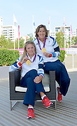 OLYMPIC VILLAGE. Stratford, East London, Great Britain,..Description: GB Rowings  Women's Double Scull: Gold Medalist  Right: Katherine GRAINGER and sitting Anna WATKINS..2012 GB Rowing Medal Winners. .. ..09:18:29  Saturday  11/08/2012 [Mandatory Credit: Peter Spurrier/Intersport Images]