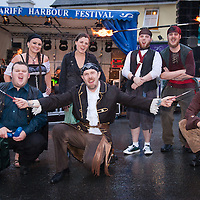 Mermbers of Ceangail Street performers during the Opening night of the 2014 Scariff Harbour Festival