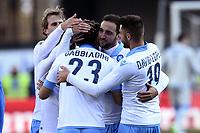 Esultanza Manolo Gabbiadini autogol Cesar  Goal Celebration <br /> Verona 01-02-2015 Stadio Bentegodi Football Calcio Serie A 2014/2015 Chievo Verona - Napoli foto Image Sport / Insidefoto