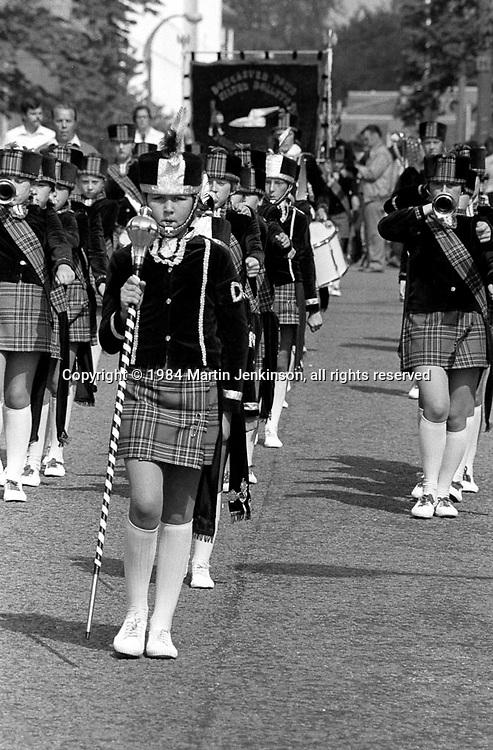 1984 Yorkshire Miner's Gala. Wakefield.