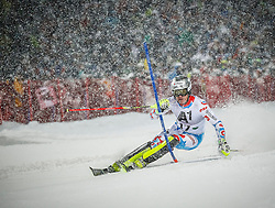 27.01.2015, Planai, Schladming, AUT, FIS Skiweltcup Alpin, Schladming, 1. Lauf, im Bild Julien Lizeroux (FRA) // Julien Lizeroux (FRA) during the first run of the men's slalom of Schladming FIS Ski Alpine World Cup at the Planai Course in Schladming, Austria on 2015/01/27, EXPA Pictures © 2015, PhotoCredit: EXPA/ Erwin Scheriau