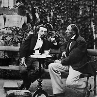 Hans Christian Andersen &amp; Carl Bloch in Rolighed Garden <br /> Picture by Unknown/Scanpix/Writer Pictures<br /> <br /> WORLD RIGHTS - DIRECT SALES ONLY - NO AGENCY