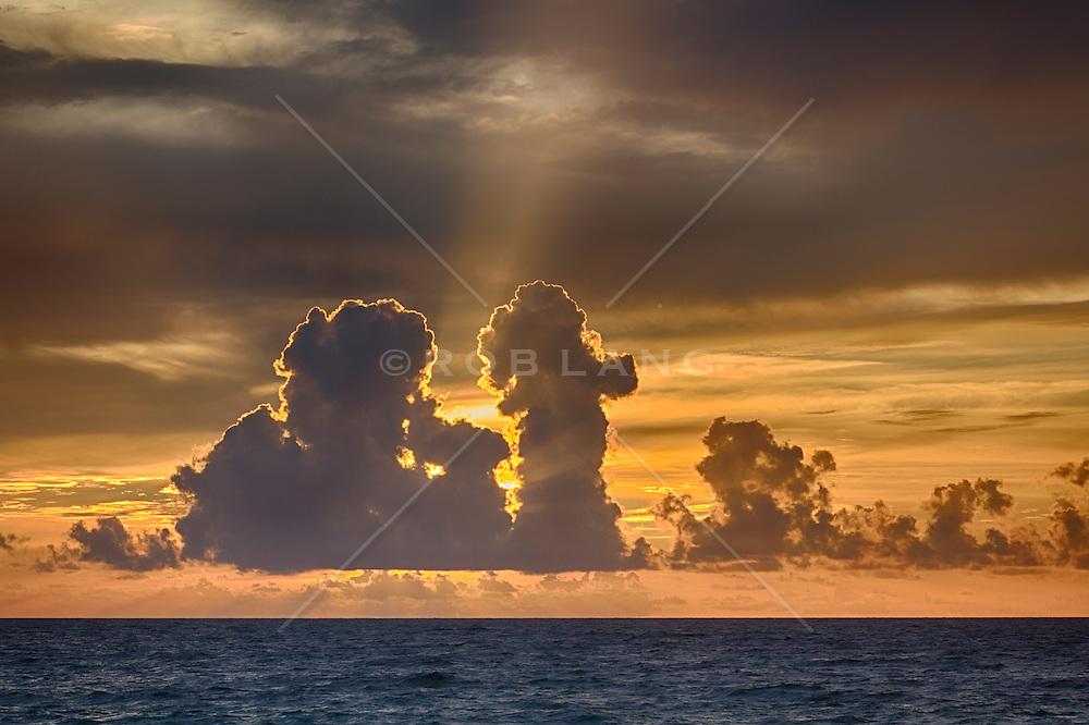 beautiful sunrise over the Atlantic Ocean in Fort lauderdale, Florida