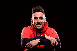 CARDIFF, WALES - Wednesday, March 22, 2017: Wales full-back Neil Taylor poses for a portrait ahead of the 2018 FIFA World Cup Qualifying Group D match against Republic of Ireland. (Pic by David Rawcliffe/Propaganda)