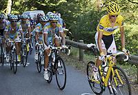 Sykkel<br /> Tour de France 2010<br /> 19.07.2010<br /> Foto: PhotoNews/Digitalsport<br /> NORWAY ONLY<br /> <br /> ANDY SCHLECK - ALBERTO CONTADOR<br /> <br /> STAGE RIT ETAPE 15 : PAMIERS - BAGNERES-DE-LUCHON