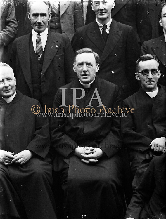 Bishops meeting, Maynooth.<br /> 14/10/1958  Irish Pictorial Engraving Co. - Copy Pictures - For Fr. Carolan S. J.<br /> 16/10/1958