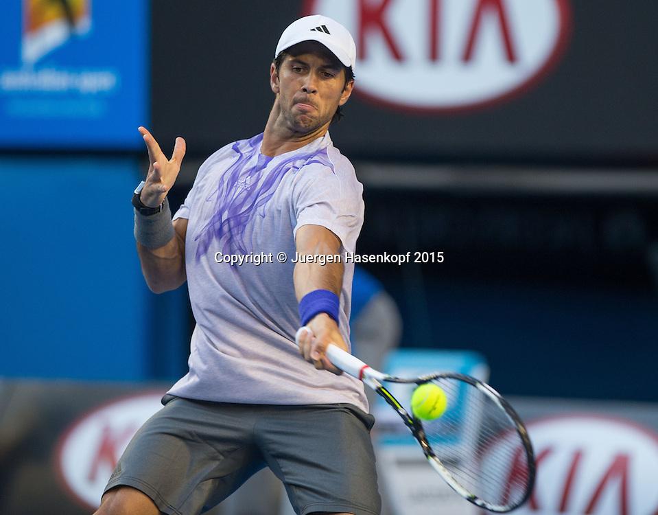 Fernando Verdasco (ESP)<br /> <br />  - Australian Open 2015 -  -  Melbourne Park Tennis Centre - Melbourne - Victoria - Australia  - 24 January 2015. <br /> &copy; Juergen Hasenkopf