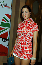 The HON.FLORA ASTOR at a party to celebrate 'Made in Italy at Harrods' - a celebration of Italian fashion food and wine, design and interiors, art and photography, cinema and music, beauty and glamour.  The party was held in the Georgian Restaurant at Harrods, Knightsbridge, London on 9th September 2004.<br /><br />PICTURES LICENCED UNTIL 9/3/2004 FOR USE TO PROMOTE THE 'MADE IN ITALY' EVENT/S ONLY.
