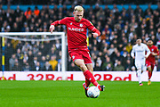 Bristol City forward Andreas Weimann (14) in action during the EFL Sky Bet Championship match between Leeds United and Bristol City at Elland Road, Leeds, England on 15 February 2020.