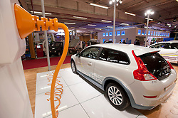 Plug-in electric Volvo C30 car at Paris Motor Show 2010