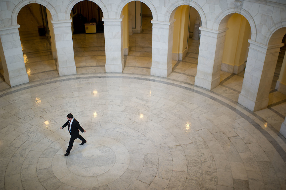 The hallways of Congress are pictured on Monday, December 19th, 2011 in Washington.