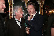 NICKY HASLAM AND SIMON MILLS, Agent Provocateur celebrate the launch of Agent Provocateur Maitresse Gold Edition. The Grill Room. Cafe Royal London. 3 October 2007. -DO NOT ARCHIVE-© Copyright Photograph by Dafydd Jones. 248 Clapham Rd. London SW9 0PZ. Tel 0207 820 0771. www.dafjones.com.