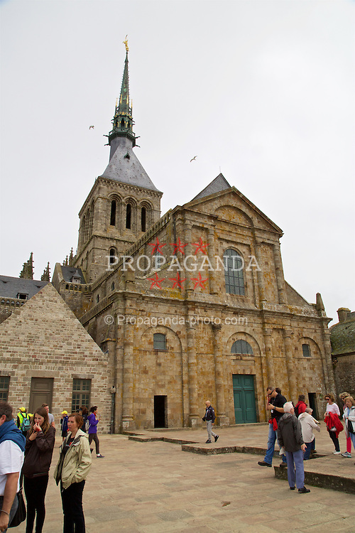 LE MONT-SAINT-MICHEL, FRANCE - Tuesday, June 28, 2016: Wales staff visit Mont Saint-Michel during the UEFA Euro 2016 Championship. (Pic by David Rawcliffe/Propaganda)
