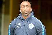 QPR Manager Jimmy Floyd Hasselbaink during the Sky Bet Championship match between Milton Keynes Dons and Queens Park Rangers at stadium:mk, Milton Keynes, England on 5 March 2016. Photo by Dennis Goodwin.