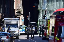 Armed police outside Borough Market, London, near the scene of last night's terrorist incident.