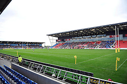 A general view of the AJ Bell Stadium during the match - Photo mandatory by-line: Patrick Khachfe/JMP - Mobile: 07966 386802 06/09/2014 - SPORT - RUGBY UNION - Manchester - AJ Bell Stadium - Sale Sharks v Bath Rugby - Aviva Premiership