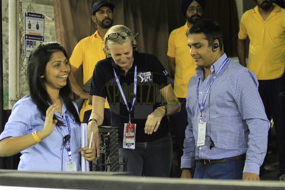 IMG staff during match 3 of the Vivo Indian Premier League ( IPL ) 2016 between the Kings XI Punjab and the Gujarat Lions held at the IS Bindra Stadium, Mohali, India on the 11th April 2016<br /> <br /> Photo by Arjun Singh/ IPL/ SPORTZPICS