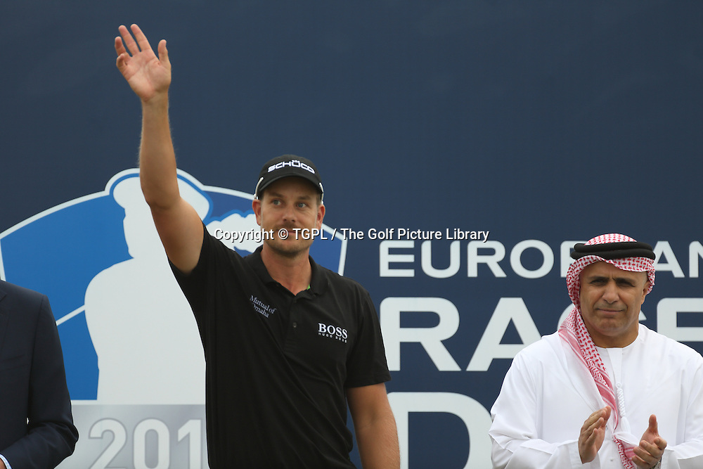 Henrik STENSON (SWE) during fourth round DP World Tour Championship 2013,Jemeirah Golf Estates, Dubai,UAE.