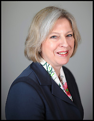 Portrait of Theresa May.Member of Parliament for Maidenhead, London, Tuesday January 12, 201, January 12, 2010. Photo By Andrew Parsons / i-Images.