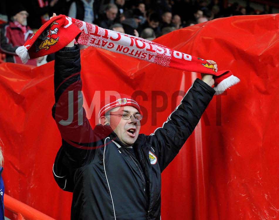 Bristol City fan - Photo mandatory by-line: Dougie Allward/JMP - Tel: Mobile: 07966 386802 01/03/2014 - SPORT - FOOTBALL - Bristol - Ashton Gate - Bristol City v Gillingham - Sky Bet League One