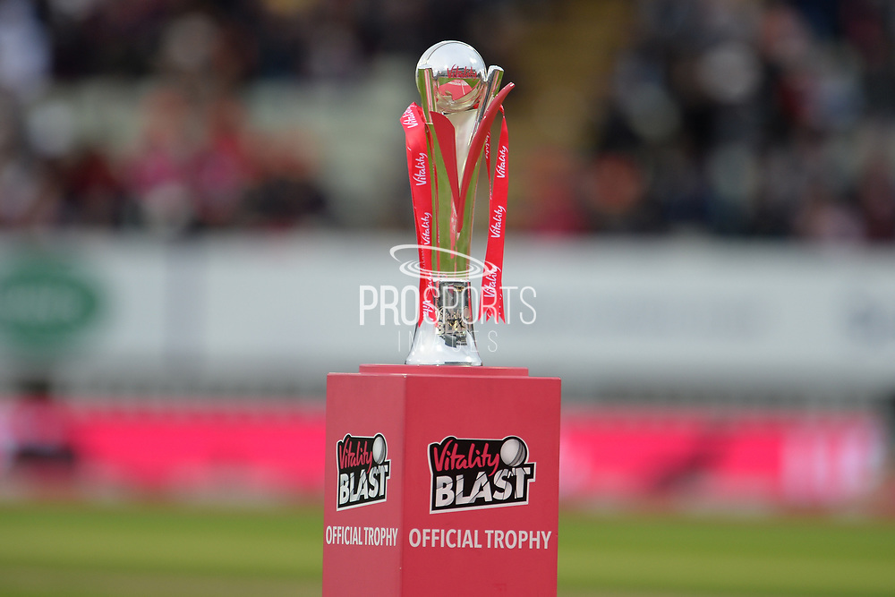The official trophy during the final of the Vitality T20 Finals Day 2018 match between Worcestershire Rapids and Sussex Sharks at Edgbaston, Birmingham, United Kingdom on 15 September 2018.
