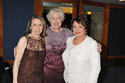 Left to right, CARLOTTA JACOBSON, CAROLINE NEVILLE and FRANCOISE MONTENAY at the 20th CEW (UK) Achiever Awards 2012 - celebrating two decades of women, passion, beauty, held at the Hilton, park Lane, London on 16th October 2012.
