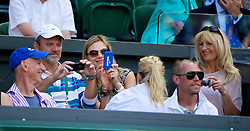 LONDON, ENGLAND - Thursday, July 3, 2014: Parents of Lucie Safarova Milan [L] and Jana [R] during the Ladies' Singles Semi-Final match on day ten of the Wimbledon Lawn Tennis Championships at the All England Lawn Tennis and Croquet Club. (Pic by David Rawcliffe/Propaganda)
