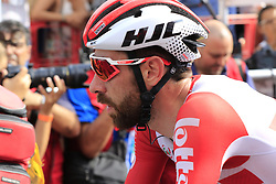 Thomas De Gendt (BEL) Lotto-Soudal crosses the finish line at the end of Stage 3 of La Vuelta 2019 running 188km from Ibi. Ciudad del Juguete to Alicante, Spain. 26th August 2019.<br /> Picture: Eoin Clarke | Cyclefile<br /> <br /> All photos usage must carry mandatory copyright credit (© Cyclefile | Eoin Clarke)